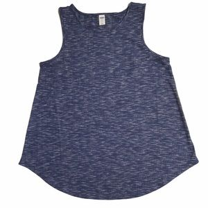 Old Navy Luxe Tank Top Cool Space Dye Dark Blue Sm